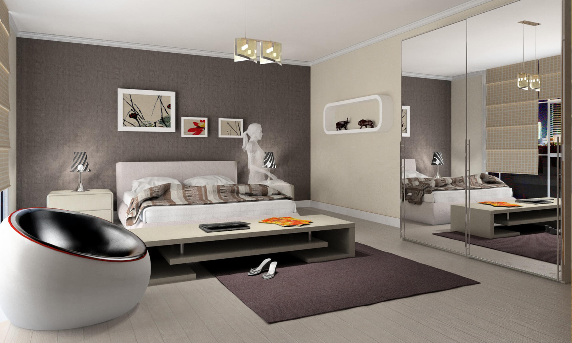 Projets 3d chambres intericad for Chambre 3d